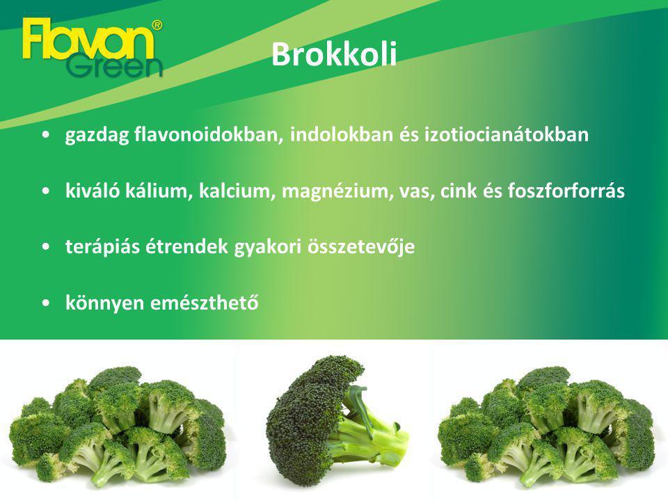 Brokkoli gazdag flavonoidokban, indolokban és izotiocianátokban