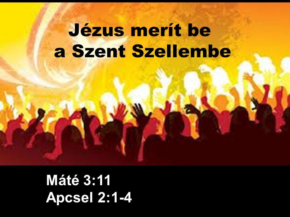 Jézus merít be a Szent Szellembe
