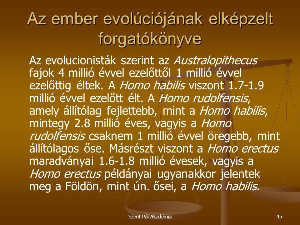 Az ember evolúciójának elképzelt forgatókönyve