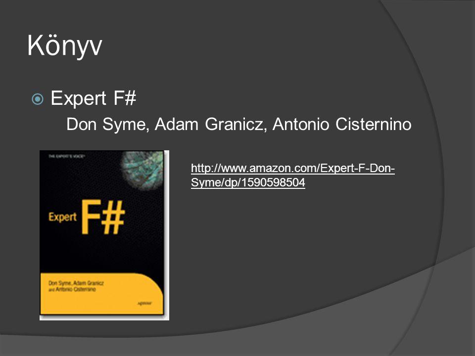 Könyv Expert F# Don Syme, Adam Granicz, Antonio Cisternino