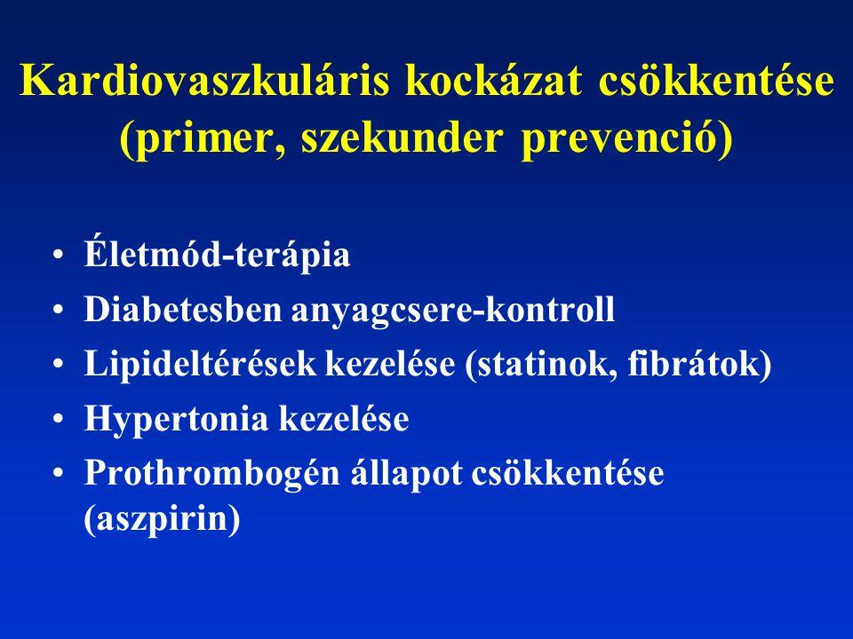 Kardiovaszkuláris kockázat csökkentése (primer, szekunder prevenció)