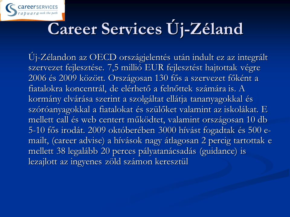 Career Services Új-Zéland