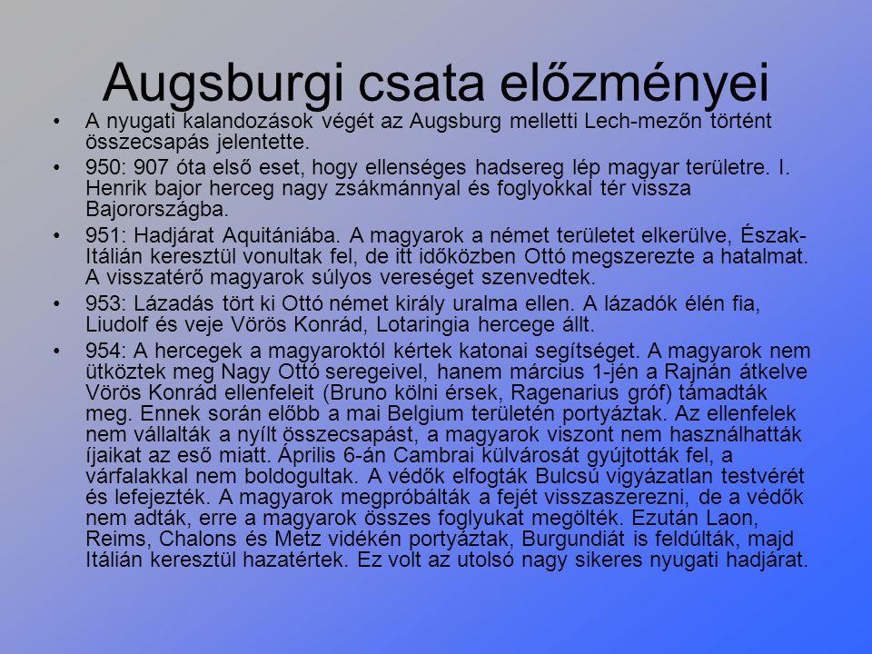Augsburgi csata előzményei