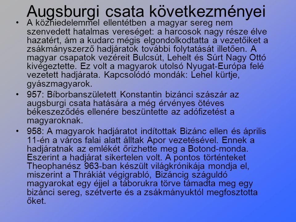 Augsburgi csata következményei