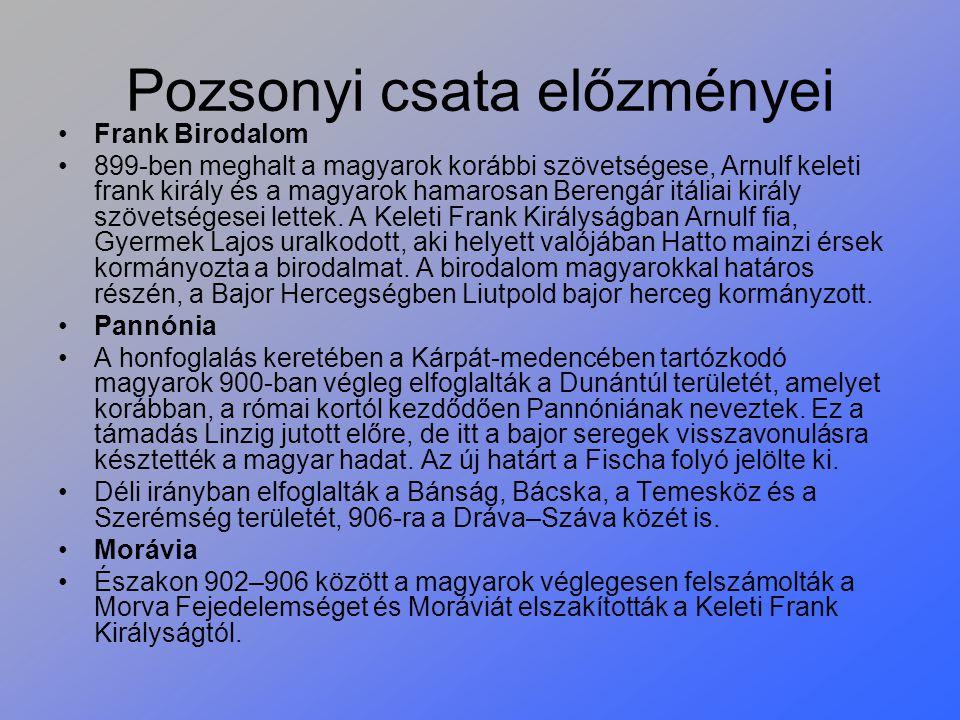 Pozsonyi csata előzményei