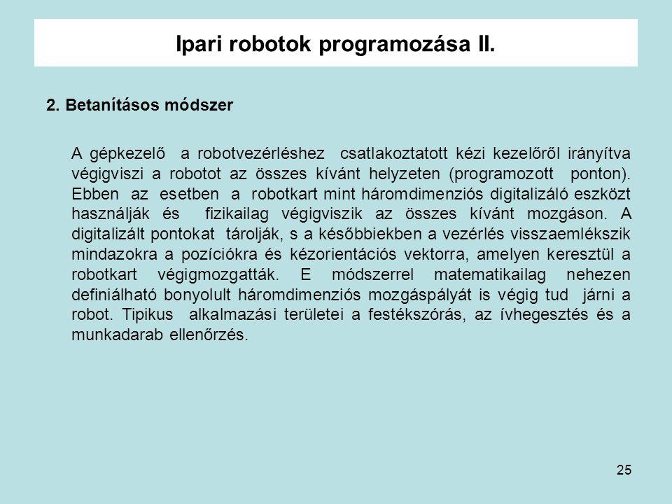 Ipari robotok programozása II.