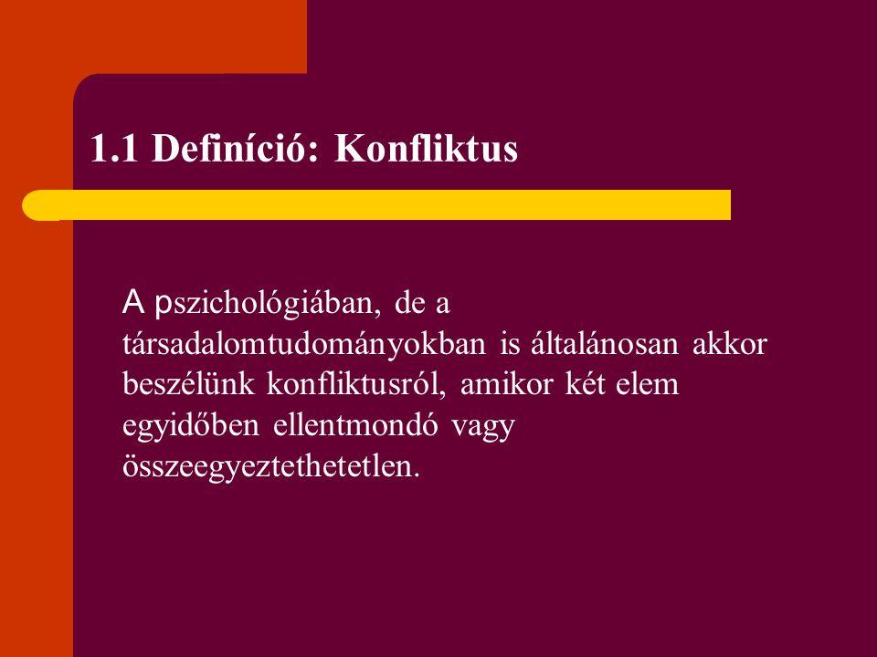 1.1 Definíció: Konfliktus
