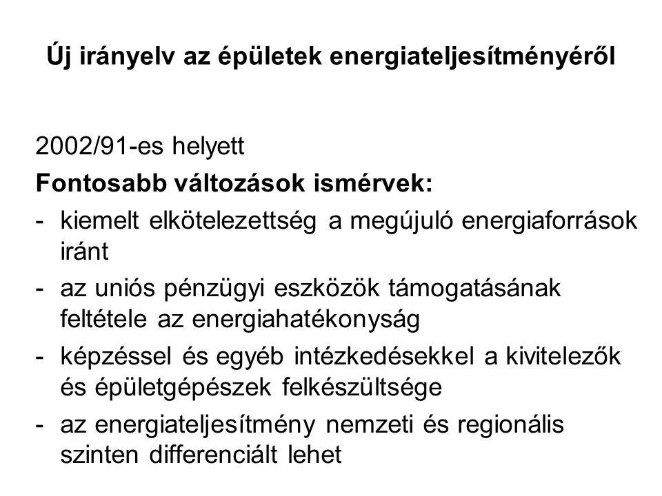 Új irányelv az épületek energiateljesítményéről