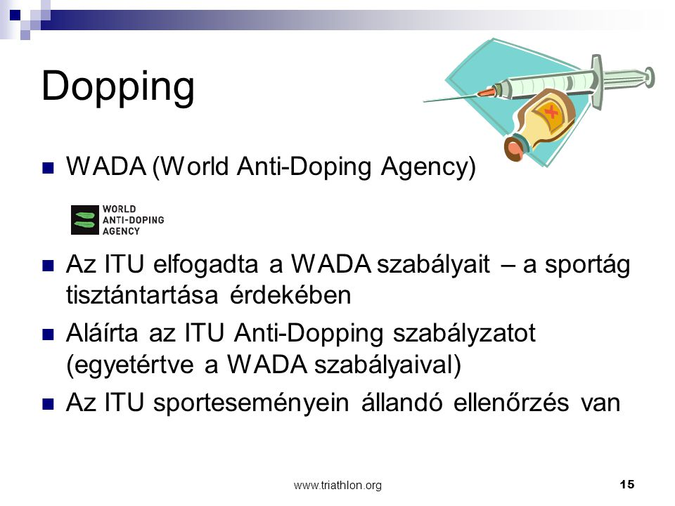 Dopping WADA (World Anti-Doping Agency)