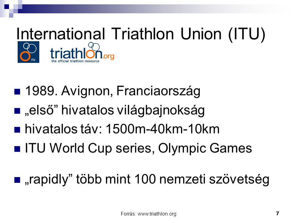 International Triathlon Union (ITU)