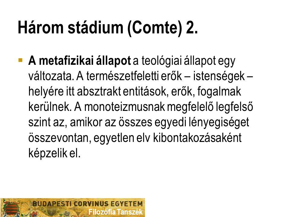 Három stádium (Comte) 2.