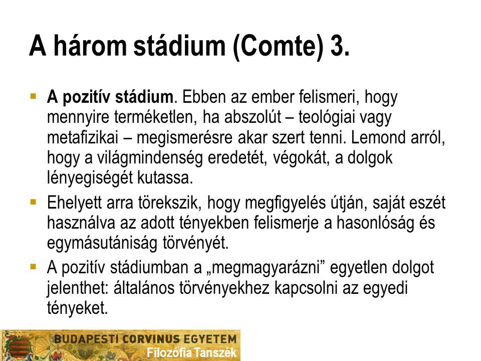 A három stádium (Comte) 3.