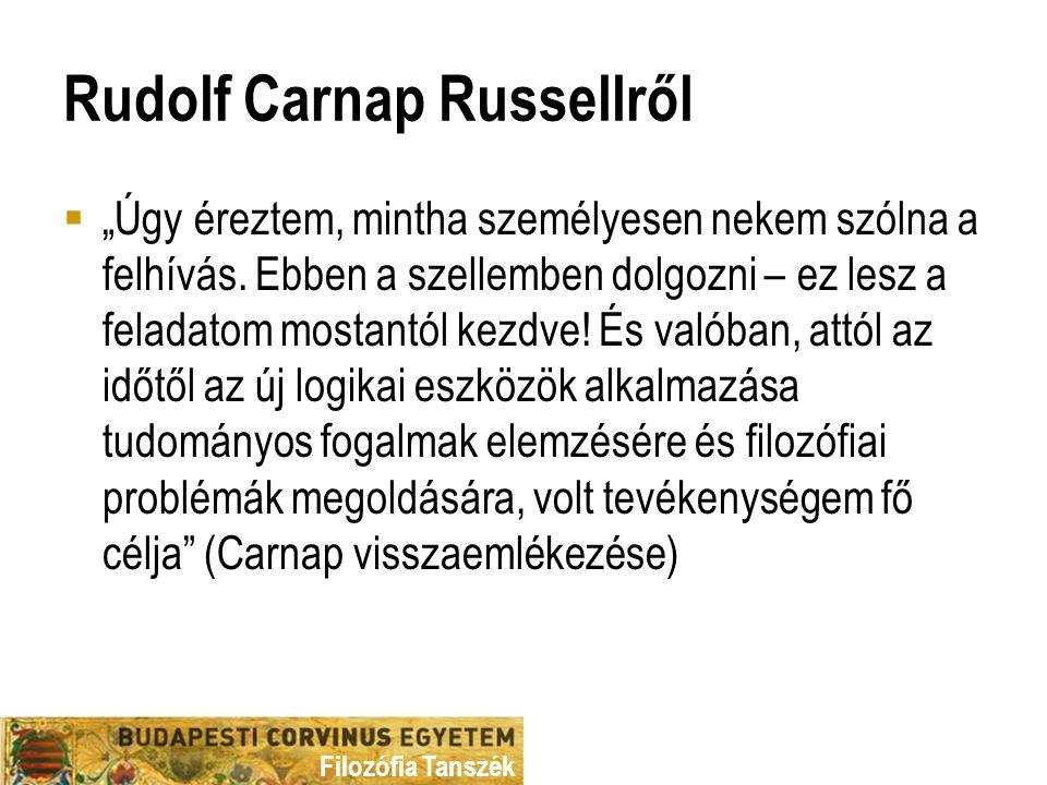 Rudolf Carnap Russellről