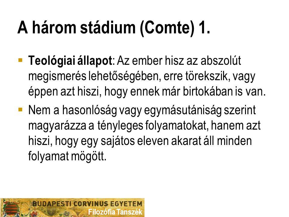 A három stádium (Comte) 1.