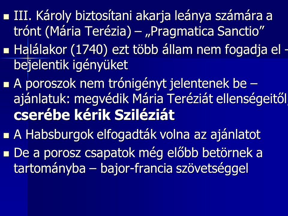 """III. Károly biztosítani akarja leánya számára a trónt (Mária Terézia) – """"Pragmatica Sanctio"""