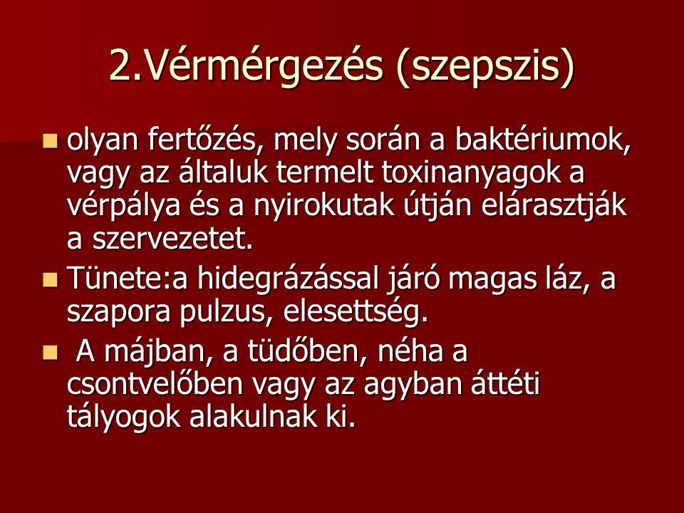 2.Vérmérgezés (szepszis)