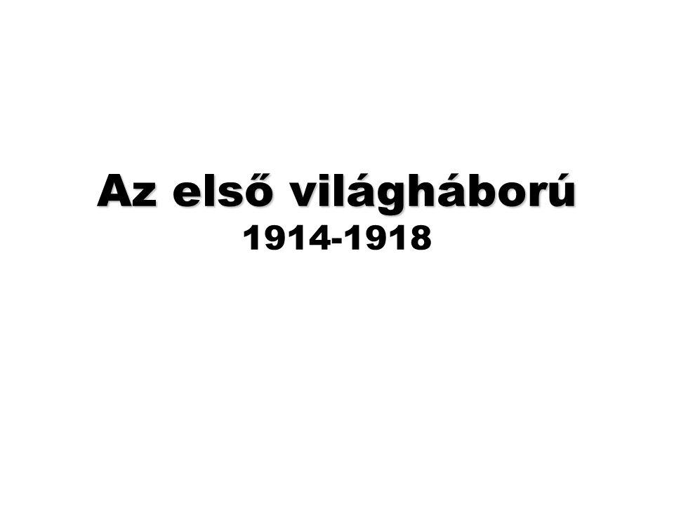 Az első világháború 1914-1918