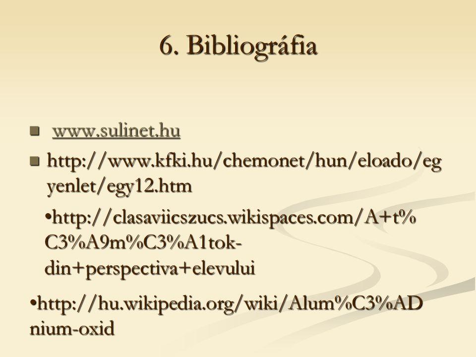6. Bibliográfia www.sulinet.hu