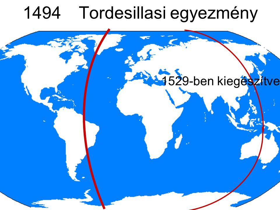 1494 Tordesillasi egyezmény