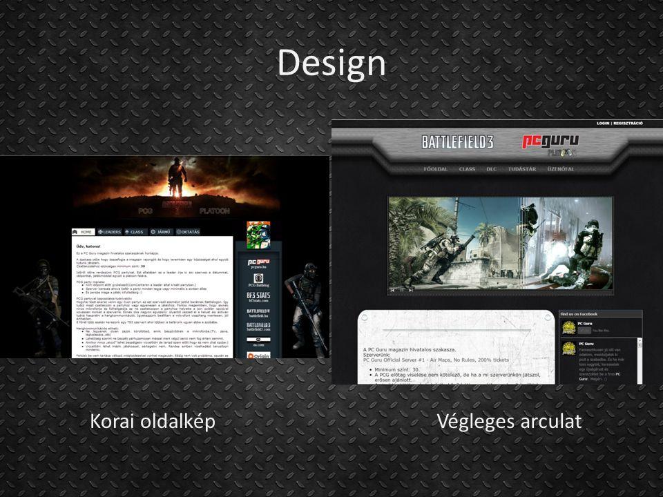 Design Korai oldalkép Végleges arculat