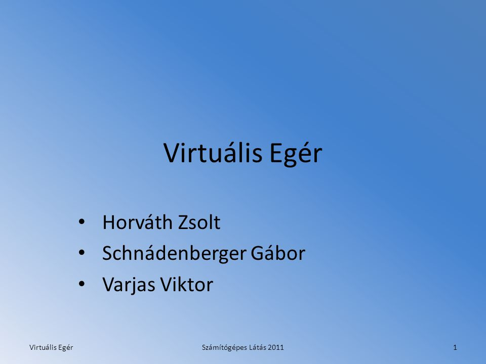 Horváth Zsolt Schnádenberger Gábor Varjas Viktor
