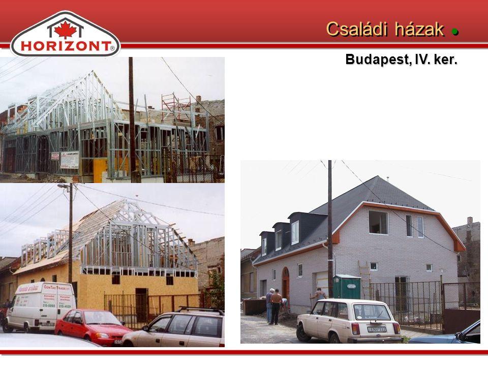 Családi házak ● Budapest, IV. ker.
