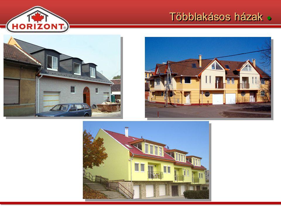 Többlakásos házak ●