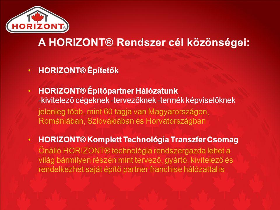 A HORIZONT® Rendszer cél közönségei:
