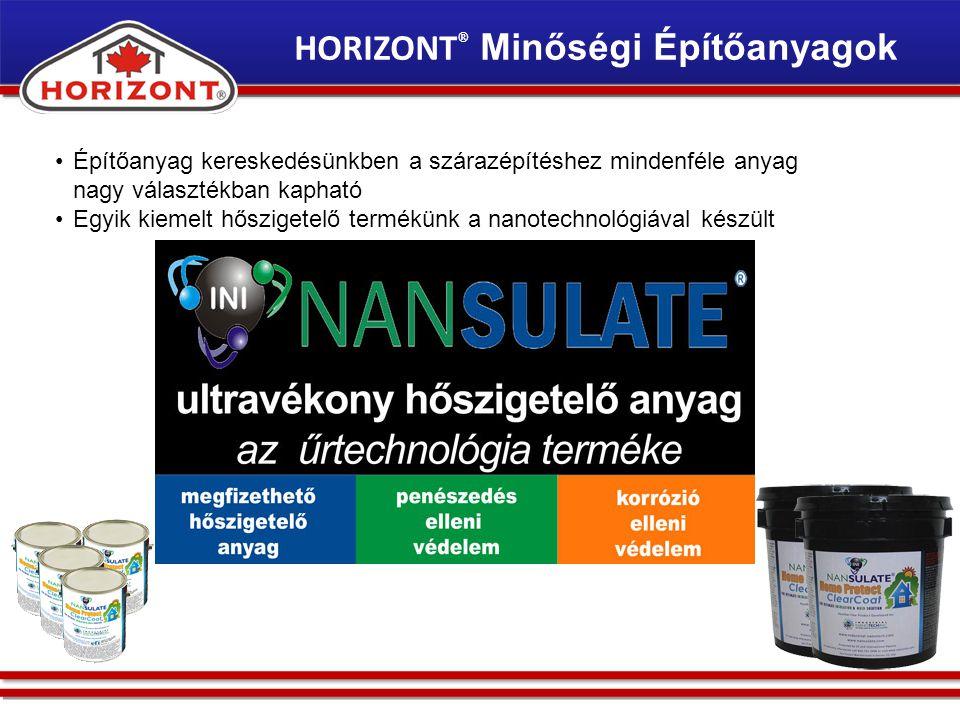HORIZONT® Minőségi Építőanyagok