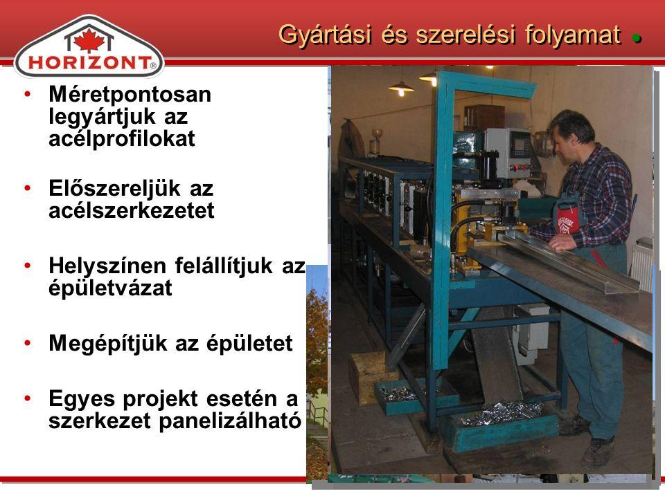 Gyártási és szerelési folyamat ●