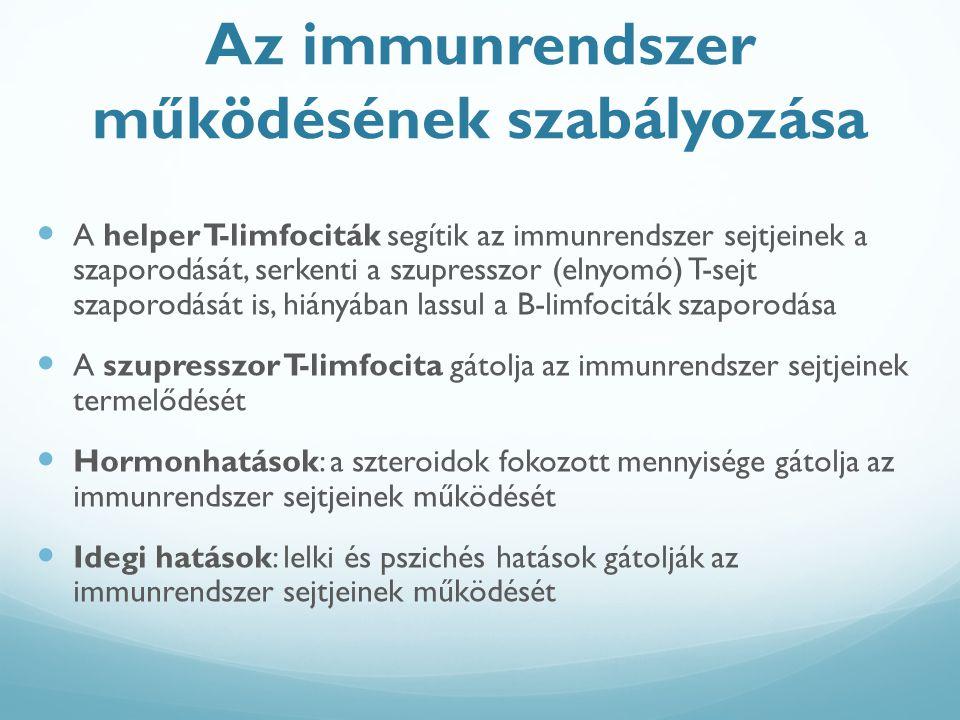Az immunrendszer működésének szabályozása