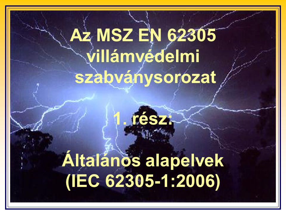 Az MSZ EN 62305 villámvédelmi szabványsorozat 1