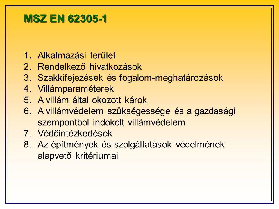 MSZ EN 62305-1 Alkalmazási terület Rendelkező hivatkozások