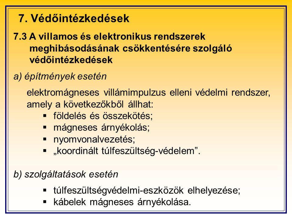 7. Védőintézkedések 7.3 A villamos és elektronikus rendszerek