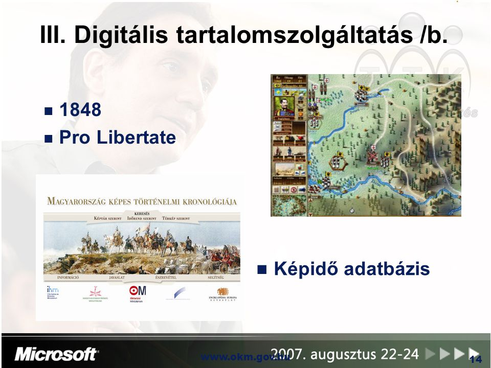 III. Digitális tartalomszolgáltatás /b.