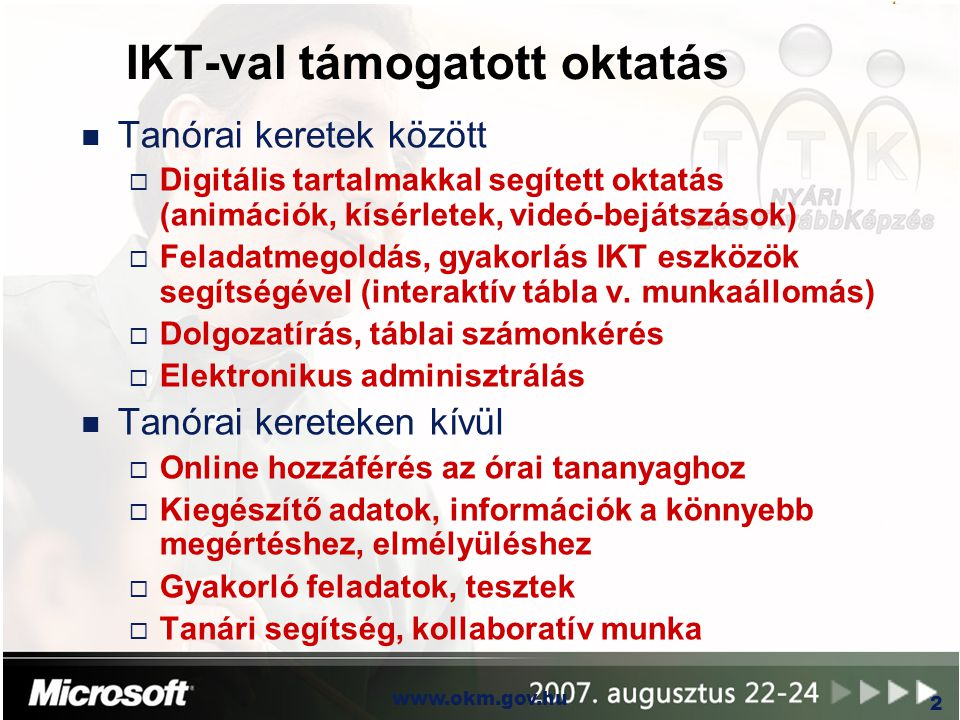 IKT-val támogatott oktatás