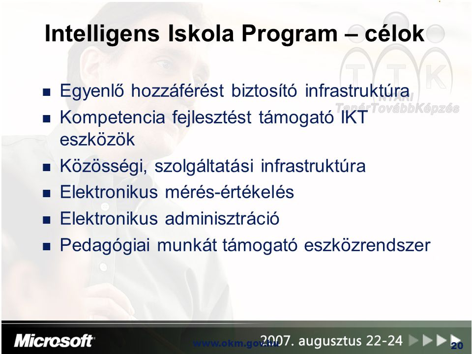 Intelligens Iskola Program – célok