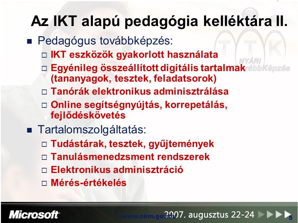 Az IKT alapú pedagógia kelléktára II.