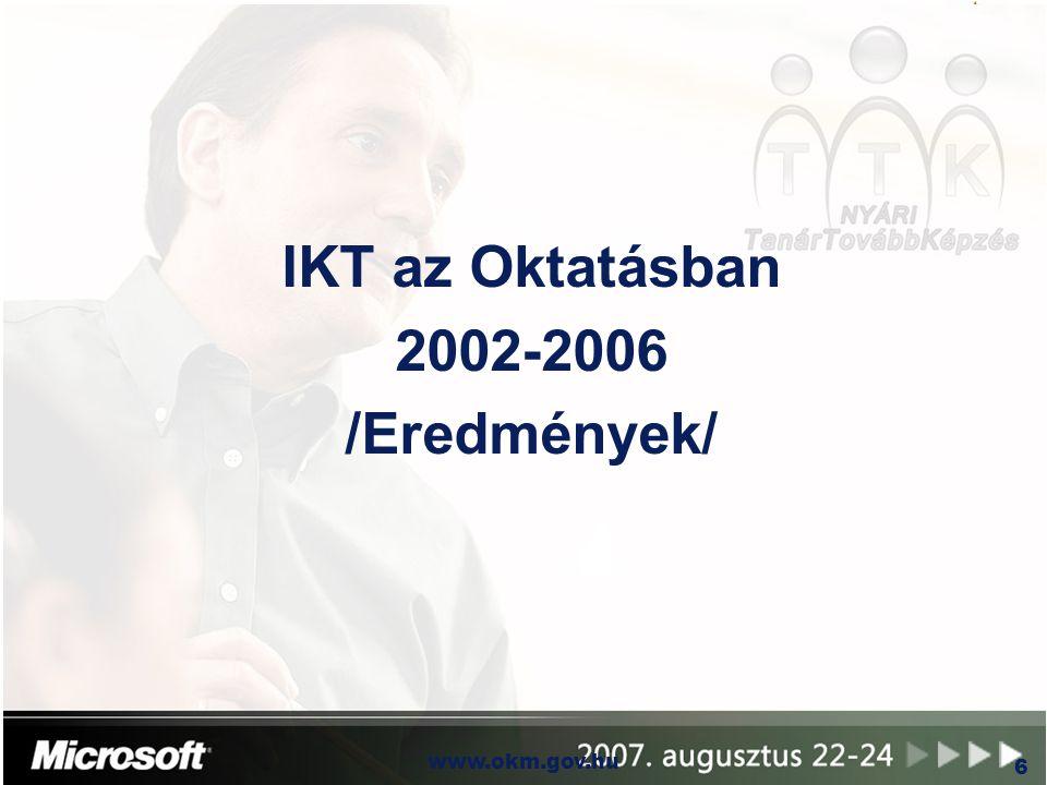 IKT az Oktatásban 2002-2006 /Eredmények/