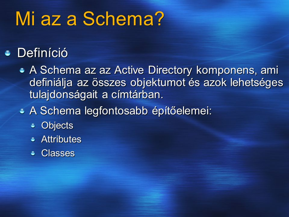 Mi az a Schema Definíció
