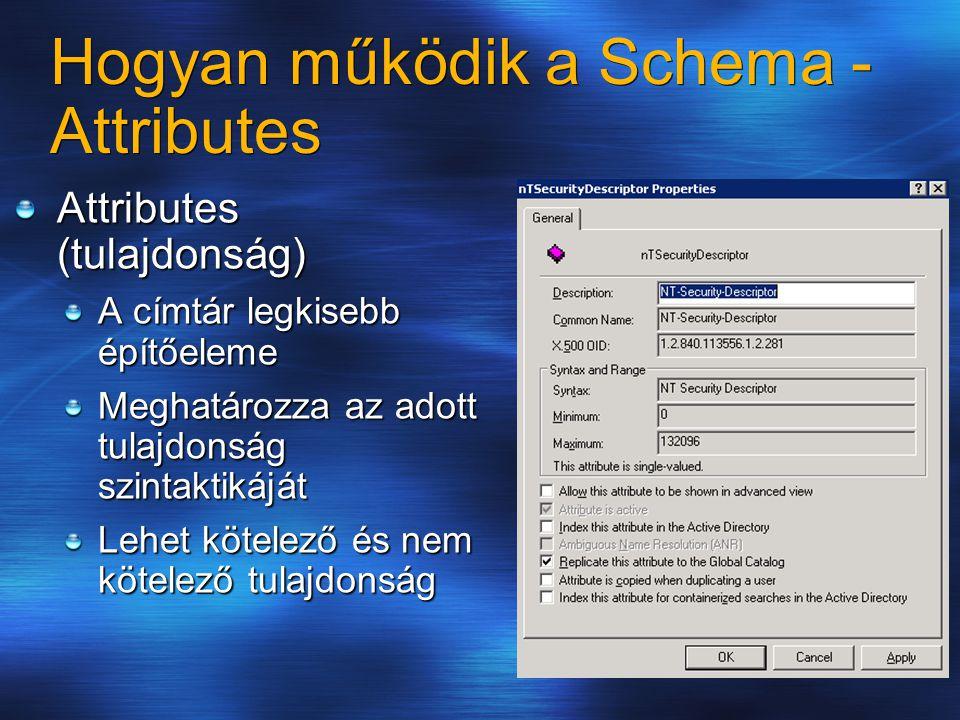 Hogyan működik a Schema - Attributes