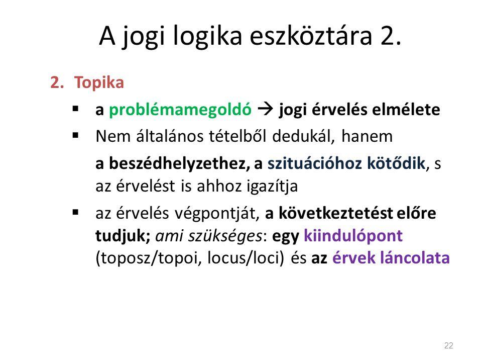 A jogi logika eszköztára 2.