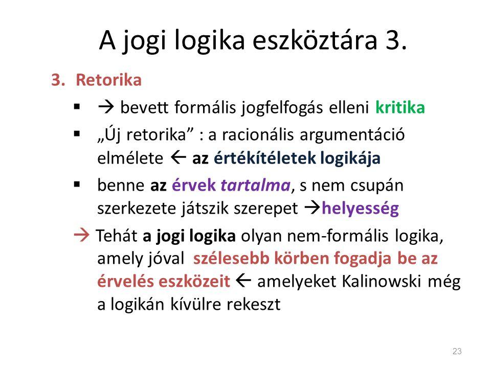 A jogi logika eszköztára 3.