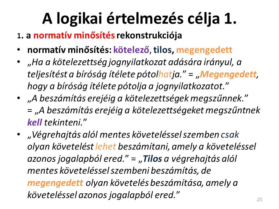 A logikai értelmezés célja 1.