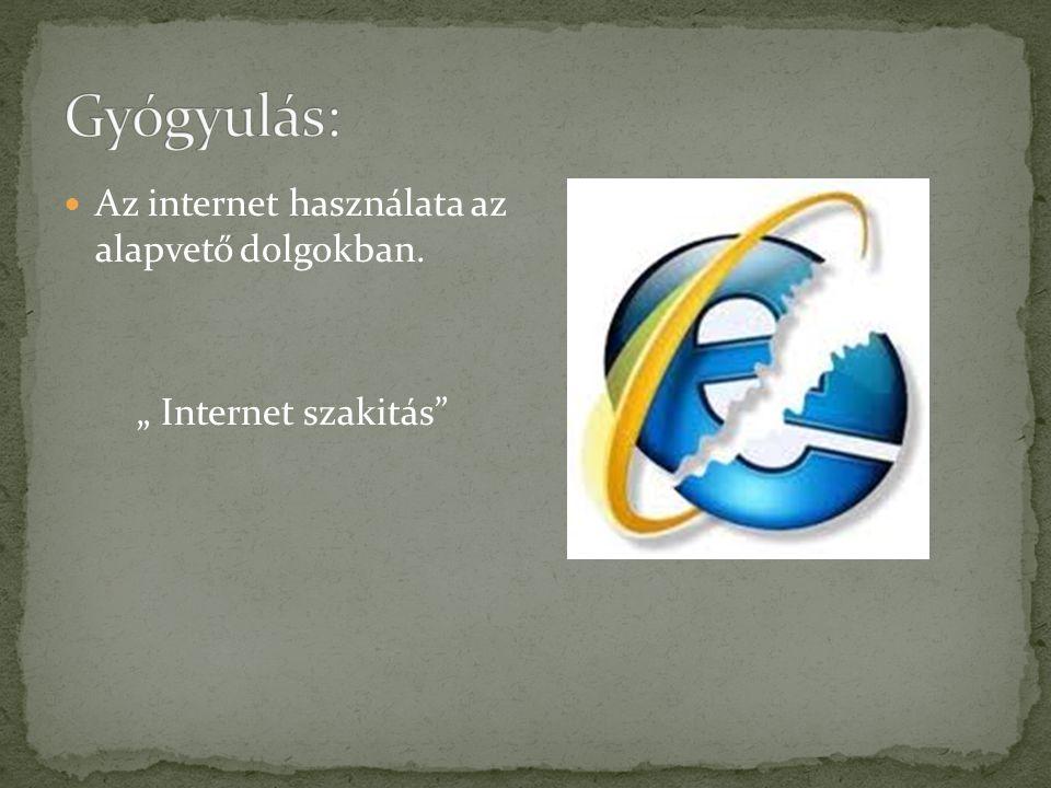 Gyógyulás: Az internet használata az alapvető dolgokban.