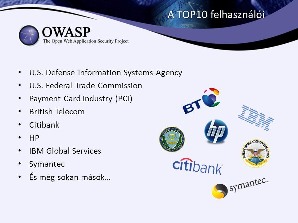 A TOP10 felhasználói U.S. Defense Information Systems Agency