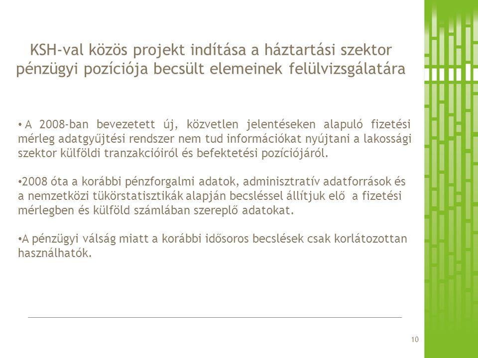 KSH-val közös projekt indítása a háztartási szektor pénzügyi pozíciója becsült elemeinek felülvizsgálatára
