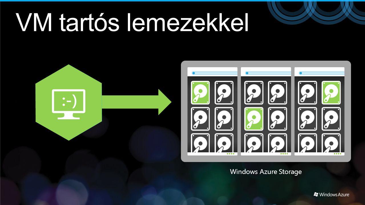 VM tartós lemezekkel Windows Azure Storage