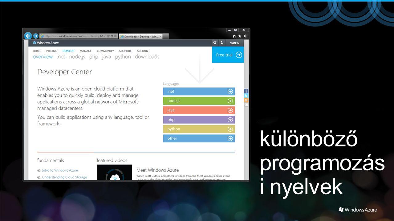 különböző programozási nyelvek