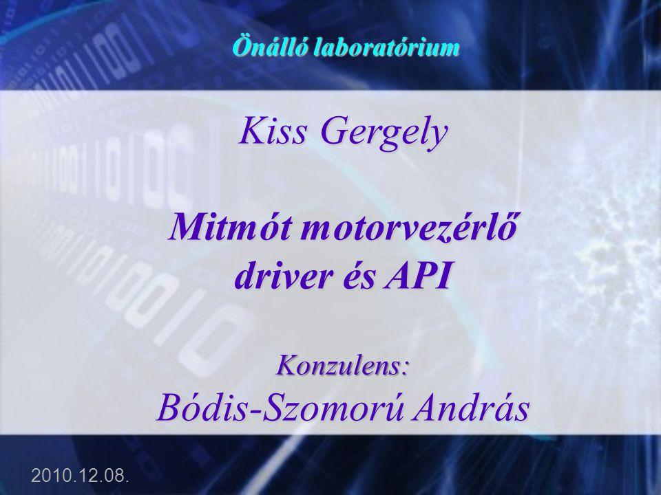 Mitmót motorvezérlő driver és API